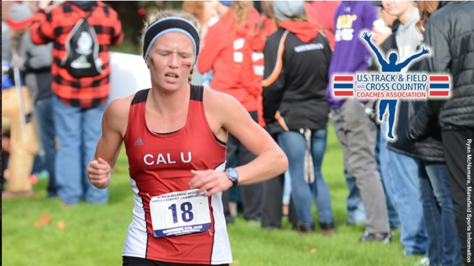 Julie Friend runs at nationals.